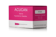 "Acucan 18G X 1½"" Pink Hypodermic Needle Box"