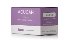 "Acucan 24G X 1"" Violet Hypodermic Needle"