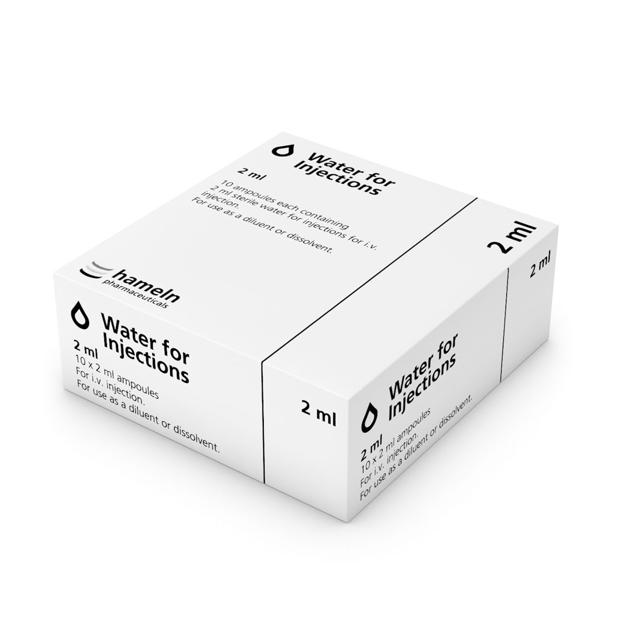 2ml Water for Injections ( POM ) Box