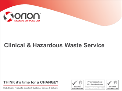 §Orion Medical Supplies Waste Presentation
